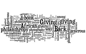 'Giving Back' word cloud