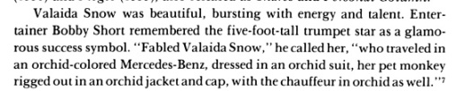 My fave Valaida Snow story
