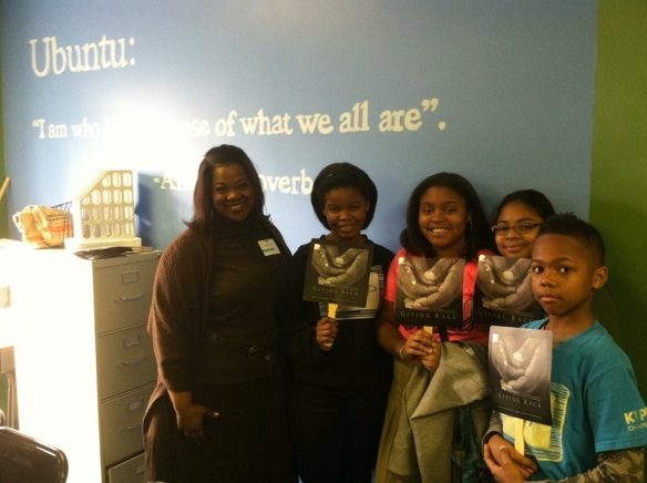 Career Day at KIPP Charlotte Charter School, where fifth and sixth graders learned about the career path of at least one writer.