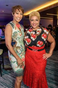 Desiree Rogers and Linda Johnson Rice of Johnson Publishing Company