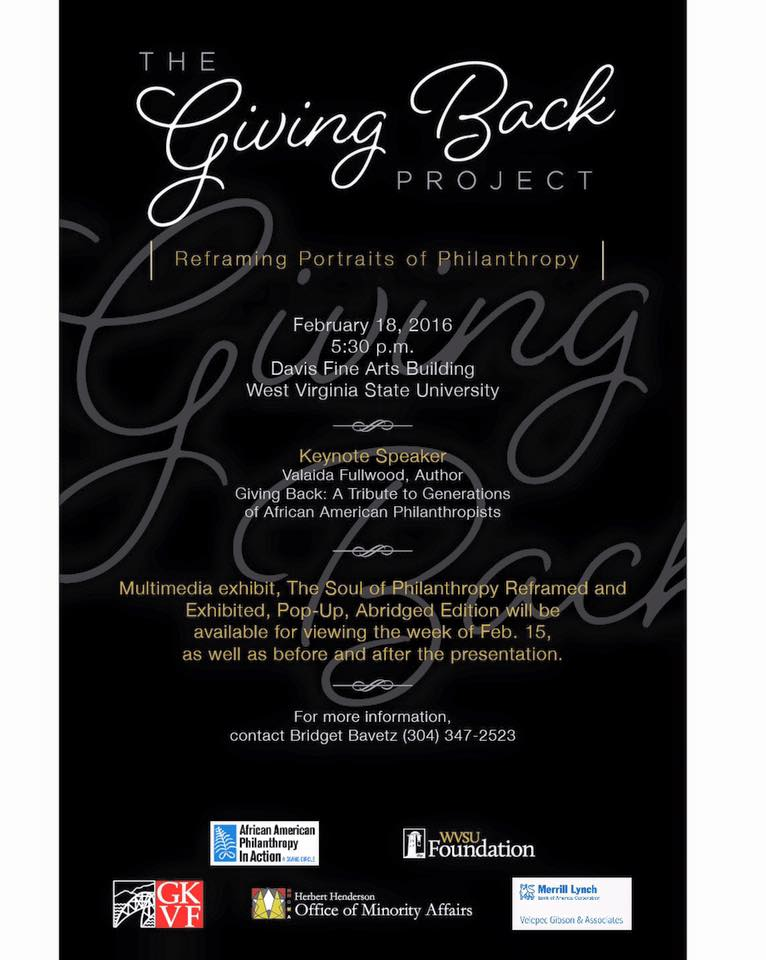 Giving Back Project announcement_WV2016