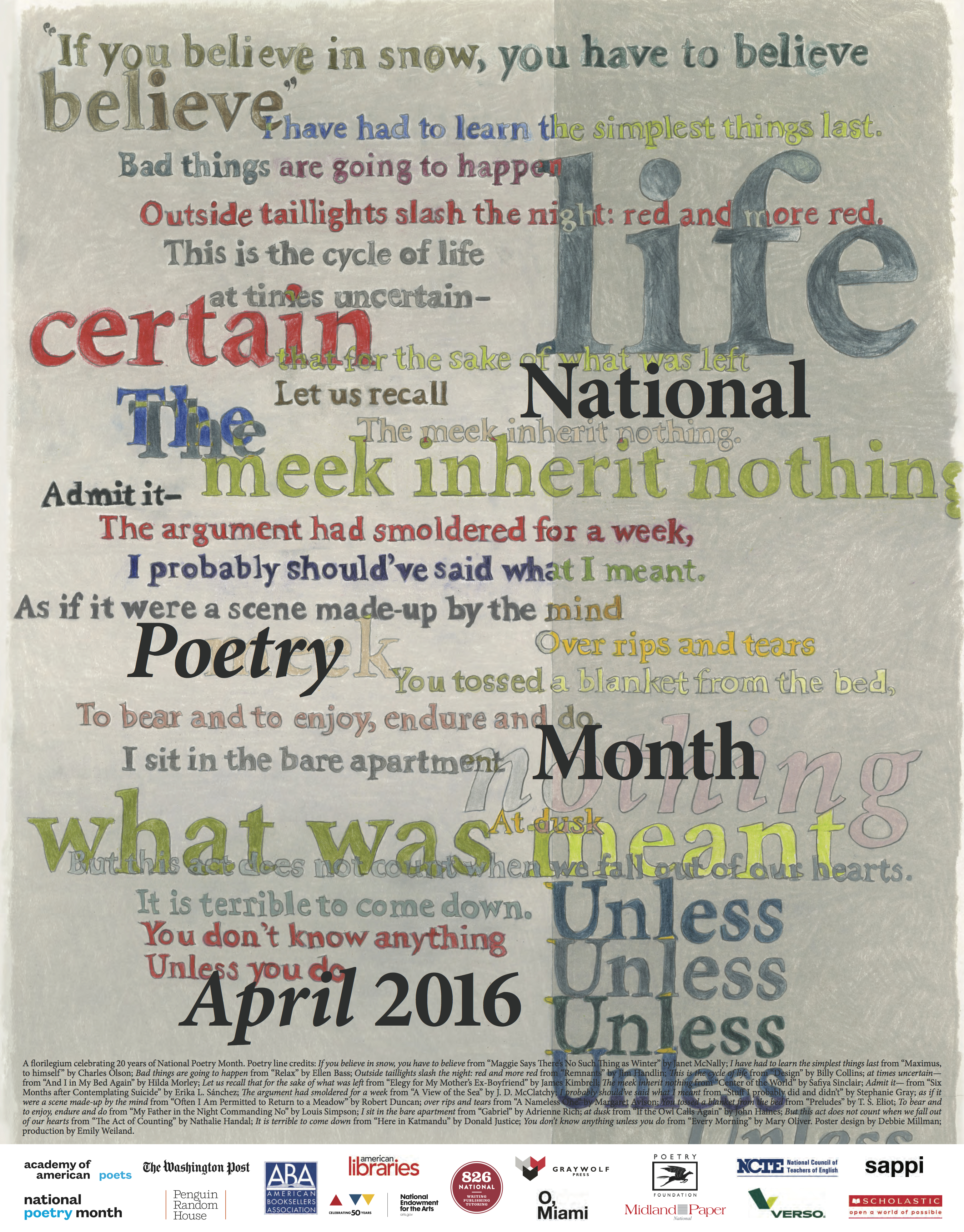 2016 poetry month poster