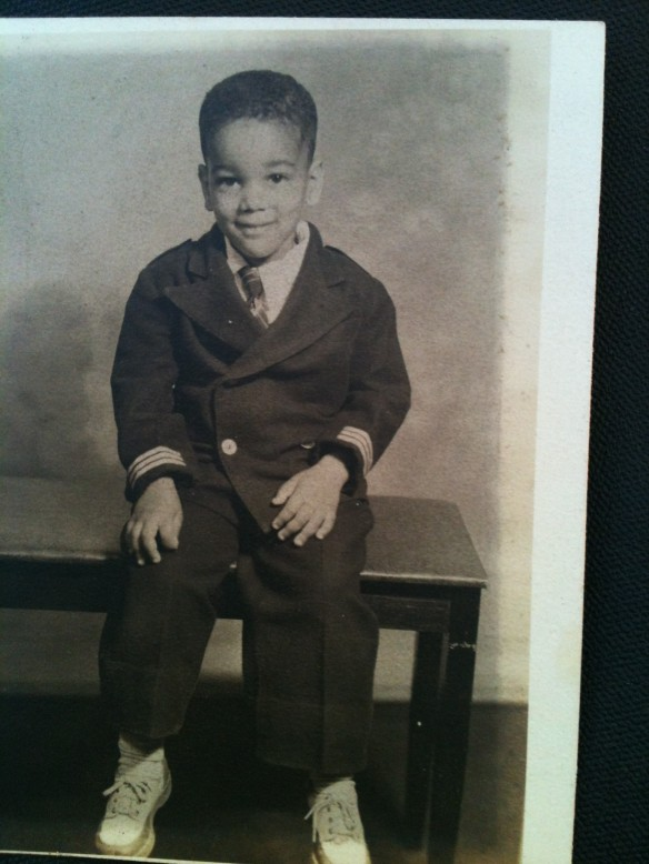 Daddy as baby sailor suit